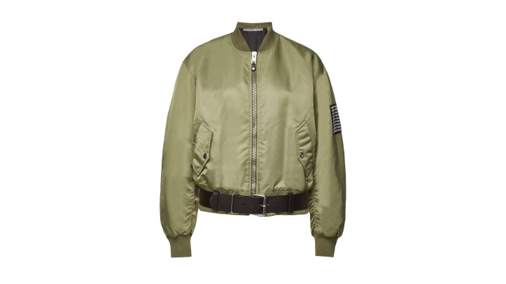 Alexander Wang Bomber Jacket with Leather Belt